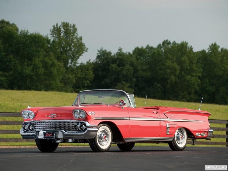 Постер Chevrolet Impala 348 Special Turbo-Thrust Convertible 1960, 27x20 см, на бумагеChevrolet<br>Постер на холсте или бумаге. Любого нужного вам размера. В раме или без. Подвес в комплекте. Трехслойная надежная упаковка. Доставим в любую точку России. Вам осталось только повесить картину на стену!<br>