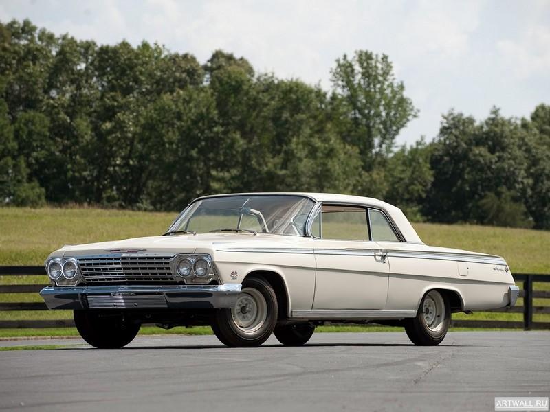 Постер Chevrolet Impala SS 409 Lightweight Coupe 1962, 27x20 см, на бумагеChevrolet<br>Постер на холсте или бумаге. Любого нужного вам размера. В раме или без. Подвес в комплекте. Трехслойная надежная упаковка. Доставим в любую точку России. Вам осталось только повесить картину на стену!<br>