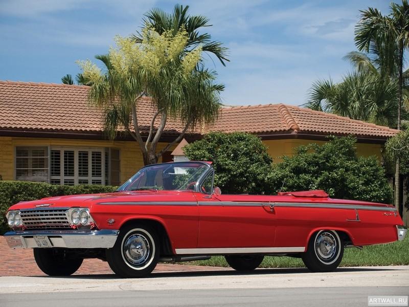 Постер Chevrolet Impala SS Convertible 1962, 27x20 см, на бумагеChevrolet<br>Постер на холсте или бумаге. Любого нужного вам размера. В раме или без. Подвес в комплекте. Трехслойная надежная упаковка. Доставим в любую точку России. Вам осталось только повесить картину на стену!<br>