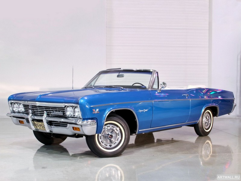 Постер Chevrolet Impala SS Convertible 1966, 27x20 см, на бумагеChevrolet<br>Постер на холсте или бумаге. Любого нужного вам размера. В раме или без. Подвес в комплекте. Трехслойная надежная упаковка. Доставим в любую точку России. Вам осталось только повесить картину на стену!<br>