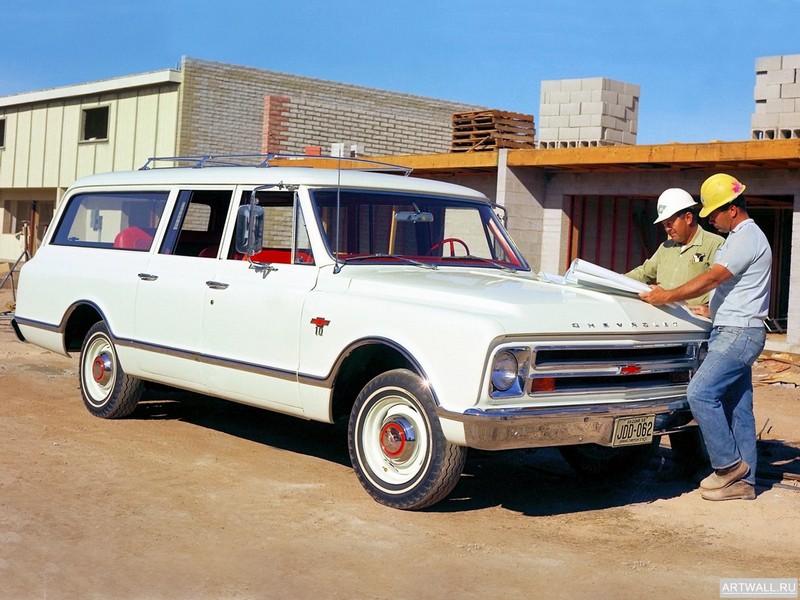 Постер Chevrolet Suburban 1967-68, 27x20 см, на бумагеChevrolet<br>Постер на холсте или бумаге. Любого нужного вам размера. В раме или без. Подвес в комплекте. Трехслойная надежная упаковка. Доставим в любую точку России. Вам осталось только повесить картину на стену!<br>