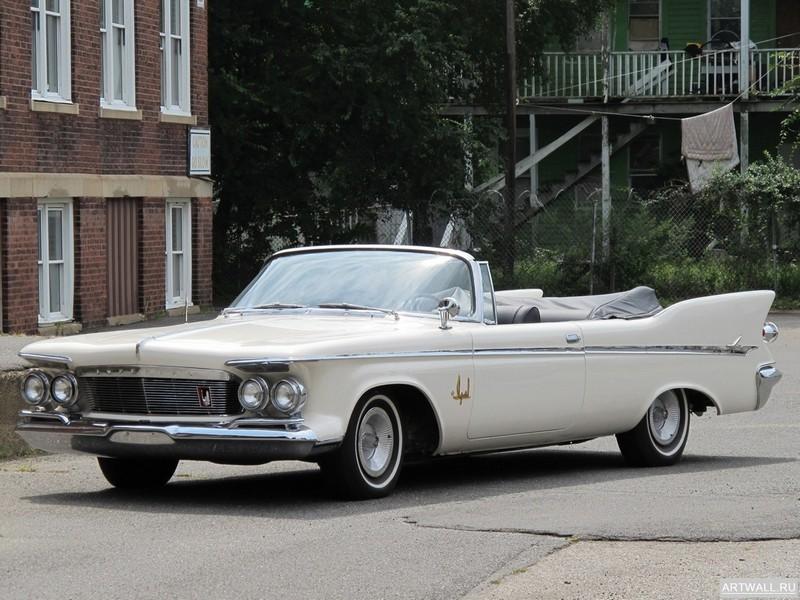 Постер Chrysler Imperial Convertible 1961, 27x20 см, на бумагеChrysler<br>Постер на холсте или бумаге. Любого нужного вам размера. В раме или без. Подвес в комплекте. Трехслойная надежная упаковка. Доставим в любую точку России. Вам осталось только повесить картину на стену!<br>