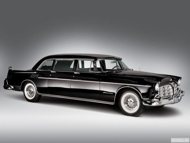 Постер Chrysler Imperial Crown Limousine 1956, 27x20 см, на бумагеChrysler<br>Постер на холсте или бумаге. Любого нужного вам размера. В раме или без. Подвес в комплекте. Трехслойная надежная упаковка. Доставим в любую точку России. Вам осталось только повесить картину на стену!<br>