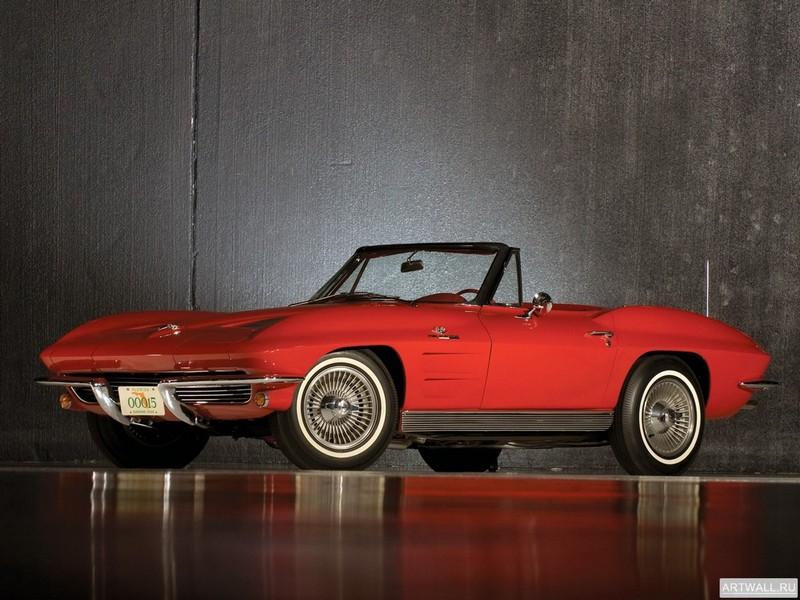 Постер Corvette Sting Ray Pilot Line Convertible (C2) 1963, 27x20 см, на бумагеCorvette<br>Постер на холсте или бумаге. Любого нужного вам размера. В раме или без. Подвес в комплекте. Трехслойная надежная упаковка. Доставим в любую точку России. Вам осталось только повесить картину на стену!<br>