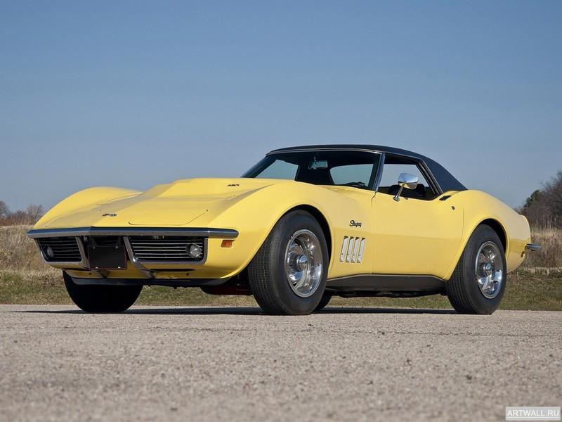 Постер Corvette Stingray L88 427 Automatically Yours Coupe (C3) 1969, 27x20 см, на бумагеCorvette<br>Постер на холсте или бумаге. Любого нужного вам размера. В раме или без. Подвес в комплекте. Трехслойная надежная упаковка. Доставим в любую точку России. Вам осталось только повесить картину на стену!<br>
