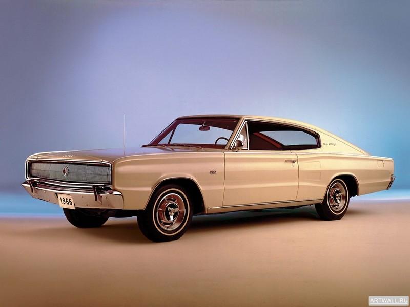 Постер Dodge Charger 1966, 27x20 см, на бумагеDodge<br>Постер на холсте или бумаге. Любого нужного вам размера. В раме или без. Подвес в комплекте. Трехслойная надежная упаковка. Доставим в любую точку России. Вам осталось только повесить картину на стену!<br>