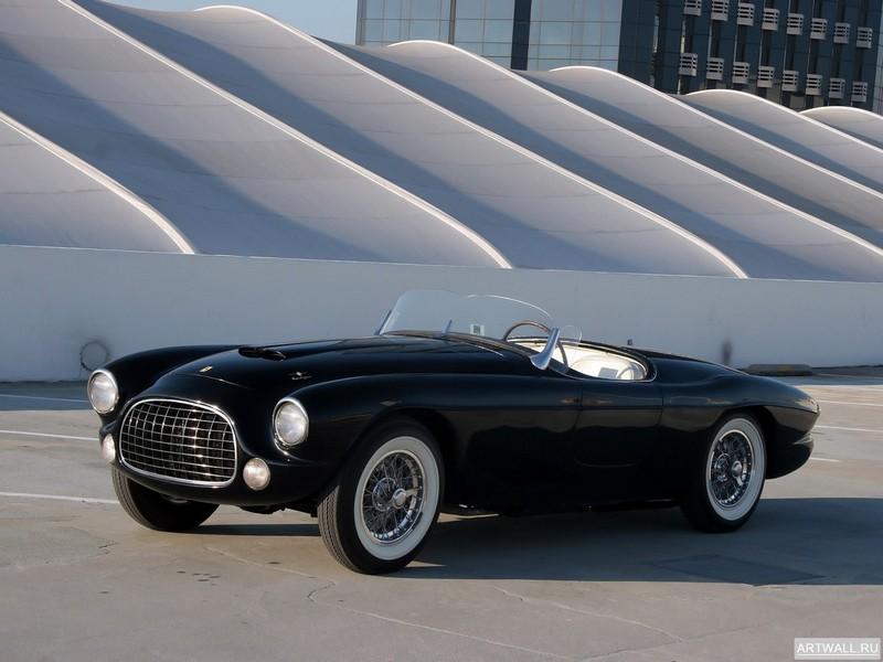 Постер Ferrari 212 225 Inter Barchetta 1952 дизайн Touring, 27x20 см, на бумагеFerrari<br>Постер на холсте или бумаге. Любого нужного вам размера. В раме или без. Подвес в комплекте. Трехслойная надежная упаковка. Доставим в любую точку России. Вам осталось только повесить картину на стену!<br>