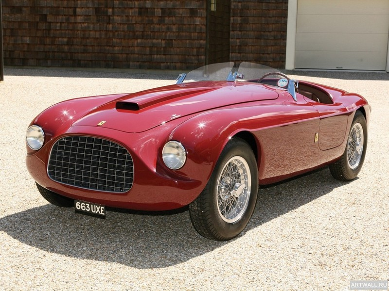 Постер Ferrari 212 Barchetta 1952, 27x20 см, на бумагеFerrari<br>Постер на холсте или бумаге. Любого нужного вам размера. В раме или без. Подвес в комплекте. Трехслойная надежная упаковка. Доставим в любую точку России. Вам осталось только повесить картину на стену!<br>