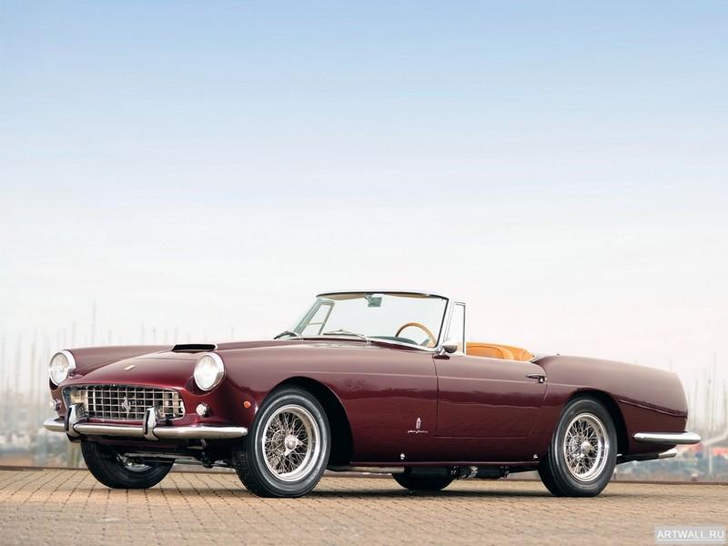Постер Ferrari 250 GT Cabriolet (Serie II) 1960 дизайн Pininfarina, 27x20 см, на бумагеFerrari<br>Постер на холсте или бумаге. Любого нужного вам размера. В раме или без. Подвес в комплекте. Трехслойная надежная упаковка. Доставим в любую точку России. Вам осталось только повесить картину на стену!<br>