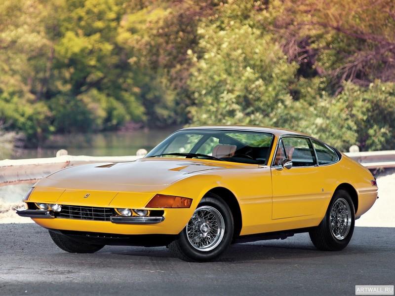 Постер Ferrari 365 GTB 4 Daytona US-spec 1971-73 дизайн Pininfarina, 27x20 см, на бумагеFerrari<br>Постер на холсте или бумаге. Любого нужного вам размера. В раме или без. Подвес в комплекте. Трехслойная надежная упаковка. Доставим в любую точку России. Вам осталось только повесить картину на стену!<br>