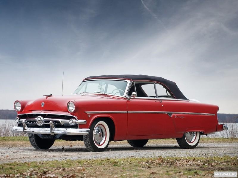 Постер Ford Crestline Sunliner 1954, 27x20 см, на бумагеFord<br>Постер на холсте или бумаге. Любого нужного вам размера. В раме или без. Подвес в комплекте. Трехслойная надежная упаковка. Доставим в любую точку России. Вам осталось только повесить картину на стену!<br>