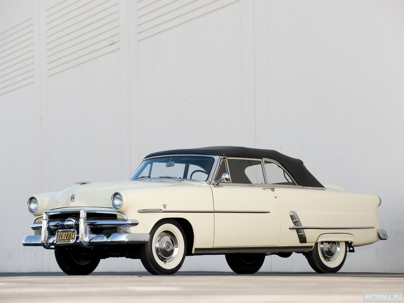 Постер Ford Crestline Sunliner Convertible Coupe (76B) 1953, 27x20 см, на бумагеFord<br>Постер на холсте или бумаге. Любого нужного вам размера. В раме или без. Подвес в комплекте. Трехслойная надежная упаковка. Доставим в любую точку России. Вам осталось только повесить картину на стену!<br>