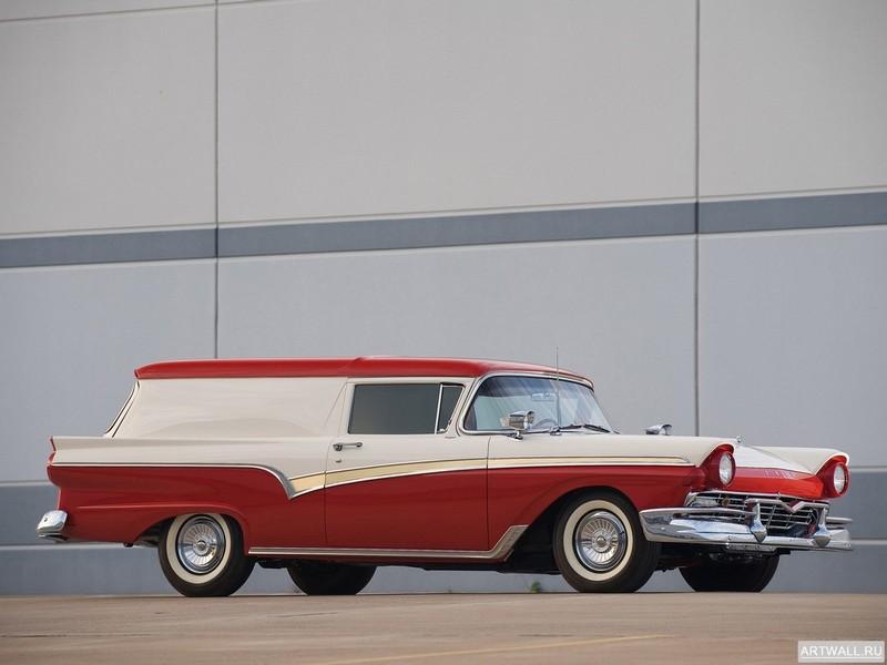 Постер Ford Custom 300 Sedan Delivery 1957, 27x20 см, на бумагеFord<br>Постер на холсте или бумаге. Любого нужного вам размера. В раме или без. Подвес в комплекте. Трехслойная надежная упаковка. Доставим в любую точку России. Вам осталось только повесить картину на стену!<br>
