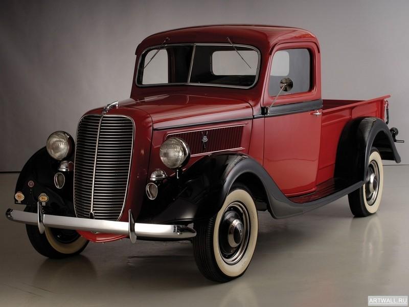Постер Ford Deluxe Pickup (77) 1937, 27x20 см, на бумагеFord<br>Постер на холсте или бумаге. Любого нужного вам размера. В раме или без. Подвес в комплекте. Трехслойная надежная упаковка. Доставим в любую точку России. Вам осталось только повесить картину на стену!<br>