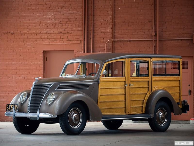 Постер Ford Deluxe Station Wagon 1937, 27x20 см, на бумагеFord<br>Постер на холсте или бумаге. Любого нужного вам размера. В раме или без. Подвес в комплекте. Трехслойная надежная упаковка. Доставим в любую точку России. Вам осталось только повесить картину на стену!<br>