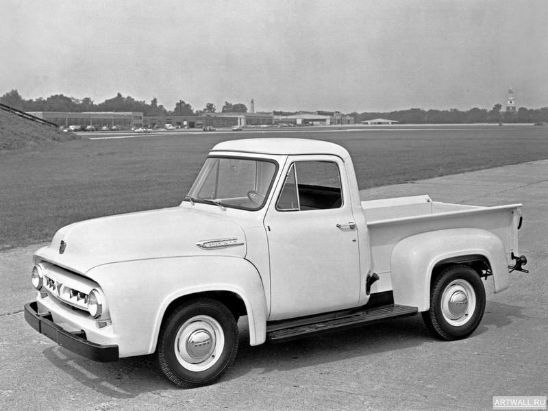 Постер Ford F-100 1953, 27x20 см, на бумагеFord<br>Постер на холсте или бумаге. Любого нужного вам размера. В раме или без. Подвес в комплекте. Трехслойная надежная упаковка. Доставим в любую точку России. Вам осталось только повесить картину на стену!<br>