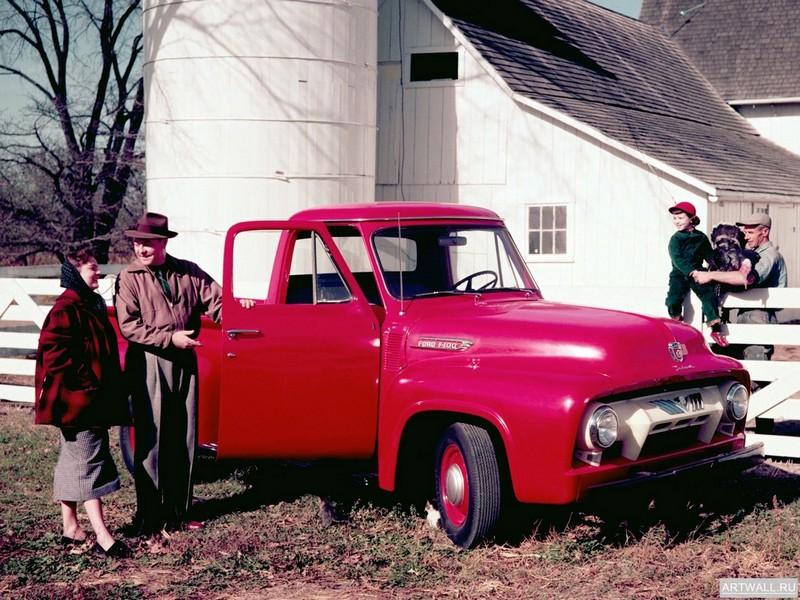 Постер Ford F-100 1954, 27x20 см, на бумагеFord<br>Постер на холсте или бумаге. Любого нужного вам размера. В раме или без. Подвес в комплекте. Трехслойная надежная упаковка. Доставим в любую точку России. Вам осталось только повесить картину на стену!<br>