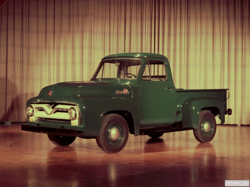 Постер Ford F-100 1955, 27x20 см, на бумагеFord<br>Постер на холсте или бумаге. Любого нужного вам размера. В раме или без. Подвес в комплекте. Трехслойная надежная упаковка. Доставим в любую точку России. Вам осталось только повесить картину на стену!<br>