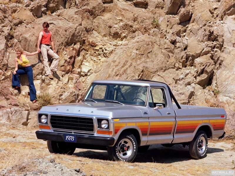 Постер Ford F-100 1978, 27x20 см, на бумагеFord<br>Постер на холсте или бумаге. Любого нужного вам размера. В раме или без. Подвес в комплекте. Трехслойная надежная упаковка. Доставим в любую точку России. Вам осталось только повесить картину на стену!<br>