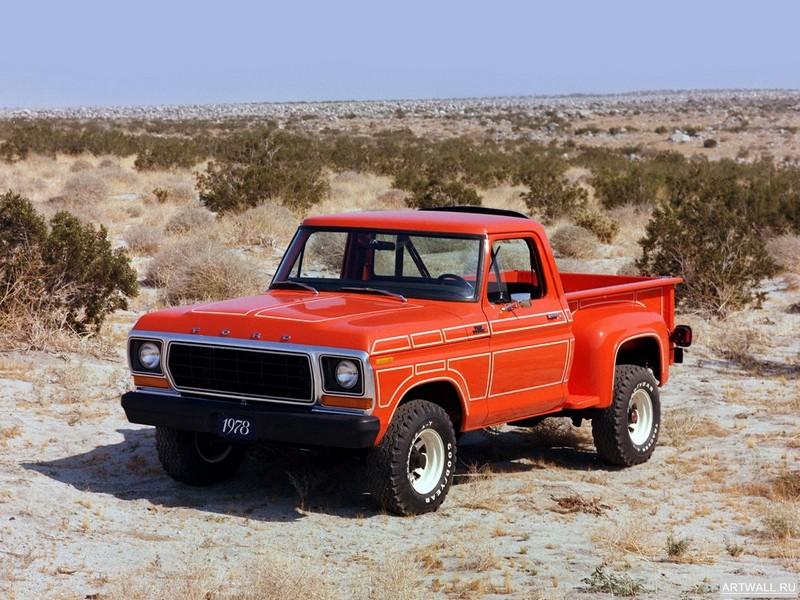 Постер Ford F-100 Flareside Pickup 1978, 27x20 см, на бумагеFord<br>Постер на холсте или бумаге. Любого нужного вам размера. В раме или без. Подвес в комплекте. Трехслойная надежная упаковка. Доставим в любую точку России. Вам осталось только повесить картину на стену!<br>