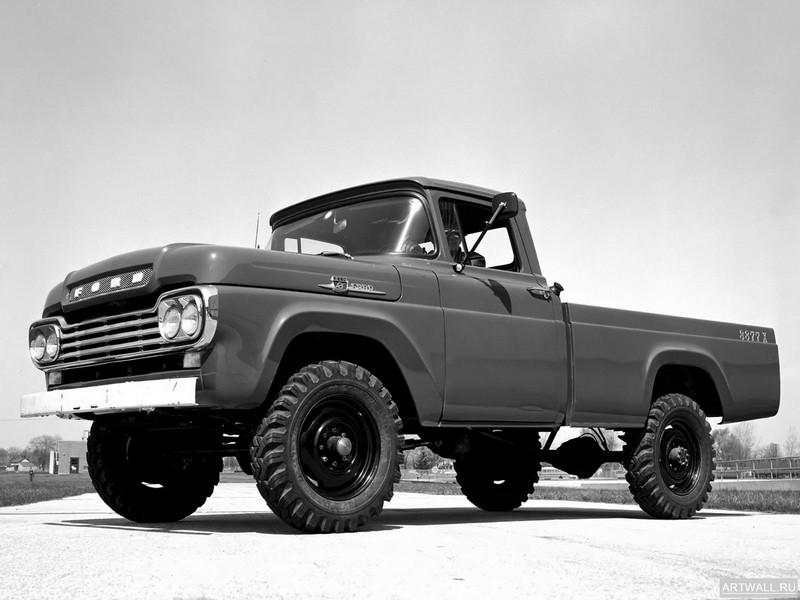 Ford F-250 4x4 1959, 27x20 см, на бумагеFord<br>Постер на холсте или бумаге. Любого нужного вам размера. В раме или без. Подвес в комплекте. Трехслойная надежная упаковка. Доставим в любую точку России. Вам осталось только повесить картину на стену!<br>