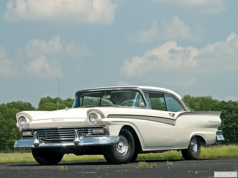 Постер Ford Fairlane 500 Club Victoria 1957, 27x20 см, на бумагеFord<br>Постер на холсте или бумаге. Любого нужного вам размера. В раме или без. Подвес в комплекте. Трехслойная надежная упаковка. Доставим в любую точку России. Вам осталось только повесить картину на стену!<br>