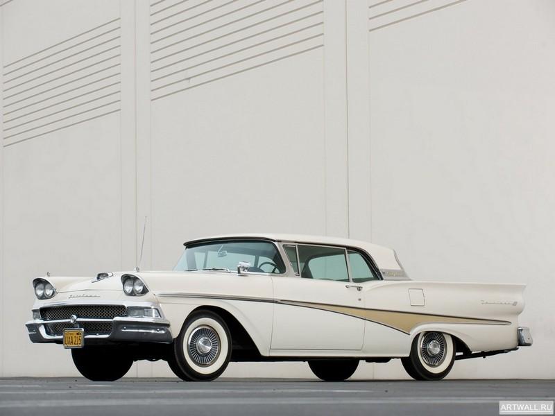 Постер Ford Fairlane 500 Skyliner 1958, 27x20 см, на бумагеFord<br>Постер на холсте или бумаге. Любого нужного вам размера. В раме или без. Подвес в комплекте. Трехслойная надежная упаковка. Доставим в любую точку России. Вам осталось только повесить картину на стену!<br>