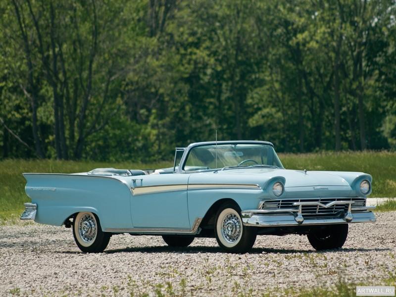 Постер Ford Fairlane 500 Sunliner 1957, 27x20 см, на бумагеFord<br>Постер на холсте или бумаге. Любого нужного вам размера. В раме или без. Подвес в комплекте. Трехслойная надежная упаковка. Доставим в любую точку России. Вам осталось только повесить картину на стену!<br>