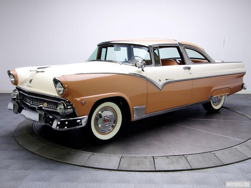 Постер Ford Fairlane Crown Victoria Coupe 1955, 27x20 см, на бумагеFord<br>Постер на холсте или бумаге. Любого нужного вам размера. В раме или без. Подвес в комплекте. Трехслойная надежная упаковка. Доставим в любую точку России. Вам осталось только повесить картину на стену!<br>