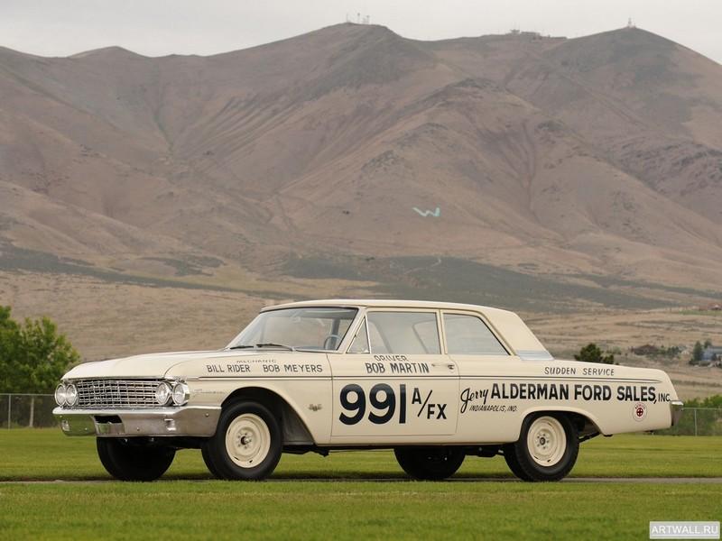 Постер Ford Galaxie 406 Lightweight 1962, 27x20 см, на бумагеFord<br>Постер на холсте или бумаге. Любого нужного вам размера. В раме или без. Подвес в комплекте. Трехслойная надежная упаковка. Доставим в любую точку России. Вам осталось только повесить картину на стену!<br>
