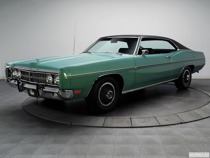 Постер Ford Galaxie 500 Sportsroof 1970, 27x20 см, на бумагеFord<br>Постер на холсте или бумаге. Любого нужного вам размера. В раме или без. Подвес в комплекте. Трехслойная надежная упаковка. Доставим в любую точку России. Вам осталось только повесить картину на стену!<br>