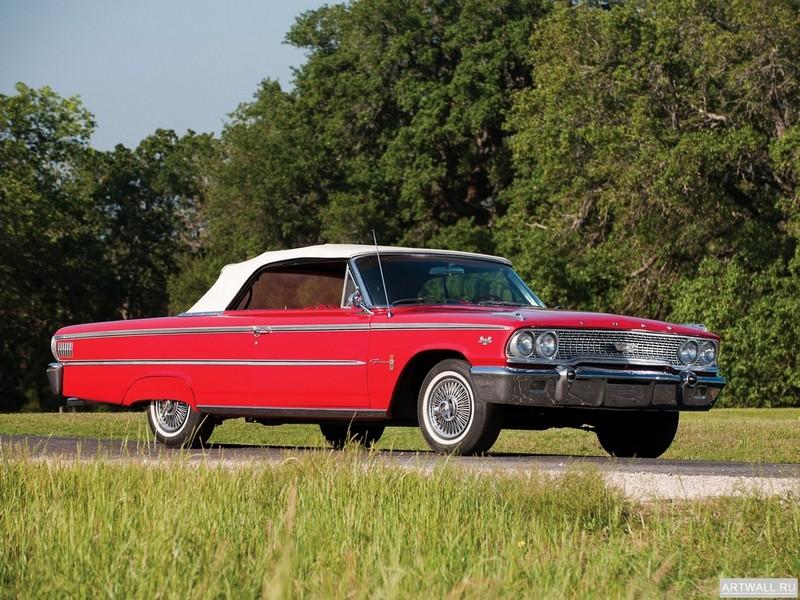 Постер Ford Galaxie 500 XL 1963, 27x20 см, на бумагеFord<br>Постер на холсте или бумаге. Любого нужного вам размера. В раме или без. Подвес в комплекте. Трехслойная надежная упаковка. Доставим в любую точку России. Вам осталось только повесить картину на стену!<br>
