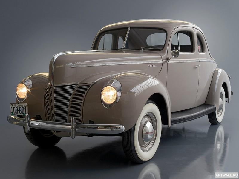 Постер Ford Model 01A Deluxe 5-Window Coupe 1940, 27x20 см, на бумагеFord<br>Постер на холсте или бумаге. Любого нужного вам размера. В раме или без. Подвес в комплекте. Трехслойная надежная упаковка. Доставим в любую точку России. Вам осталось только повесить картину на стену!<br>