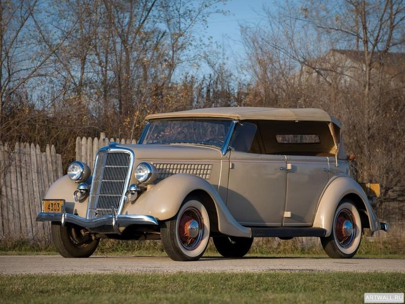 Постер Ford Model 48 Deluxe Phaeton 1935, 27x20 см, на бумагеFord<br>Постер на холсте или бумаге. Любого нужного вам размера. В раме или без. Подвес в комплекте. Трехслойная надежная упаковка. Доставим в любую точку России. Вам осталось только повесить картину на стену!<br>