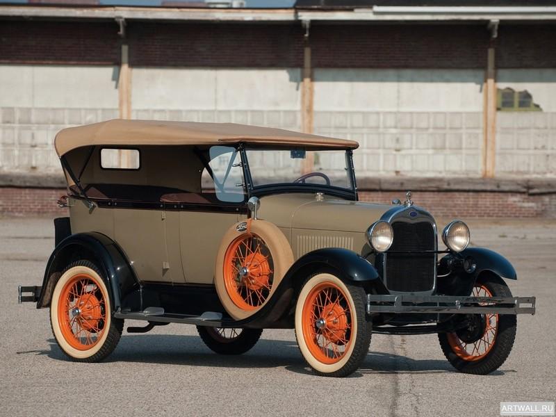 Постер Ford Model A Convertible Sedan 1931, 27x20 см, на бумагеFord<br>Постер на холсте или бумаге. Любого нужного вам размера. В раме или без. Подвес в комплекте. Трехслойная надежная упаковка. Доставим в любую точку России. Вам осталось только повесить картину на стену!<br>