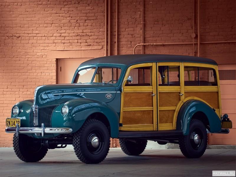 Постер Ford Standard Station Wagon by Marmon-Herrington 1940, 27x20 см, на бумагеFord<br>Постер на холсте или бумаге. Любого нужного вам размера. В раме или без. Подвес в комплекте. Трехслойная надежная упаковка. Доставим в любую точку России. Вам осталось только повесить картину на стену!<br>