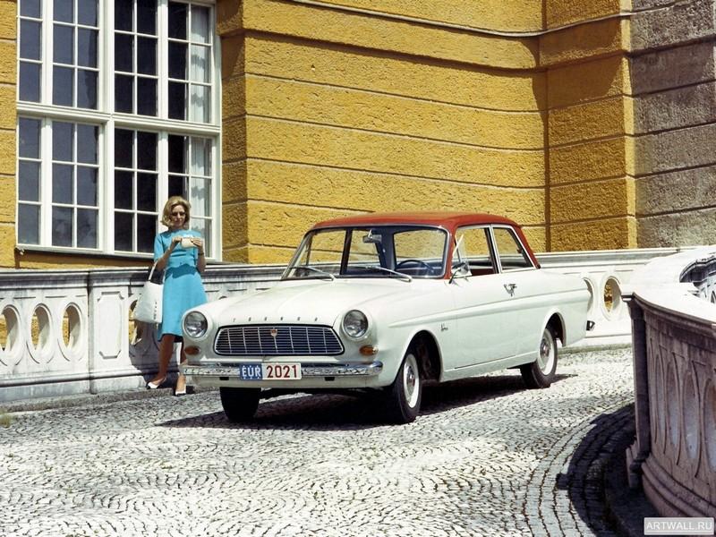 Постер Ford Taunus 12M (P4) 1962-66, 27x20 см, на бумагеFord<br>Постер на холсте или бумаге. Любого нужного вам размера. В раме или без. Подвес в комплекте. Трехслойная надежная упаковка. Доставим в любую точку России. Вам осталось только повесить картину на стену!<br>