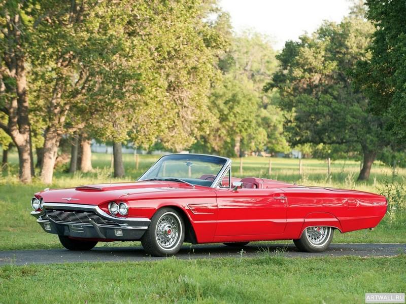 Постер Ford Thunderbird Convertible 1965, 27x20 см, на бумагеFord<br>Постер на холсте или бумаге. Любого нужного вам размера. В раме или без. Подвес в комплекте. Трехслойная надежная упаковка. Доставим в любую точку России. Вам осталось только повесить картину на стену!<br>