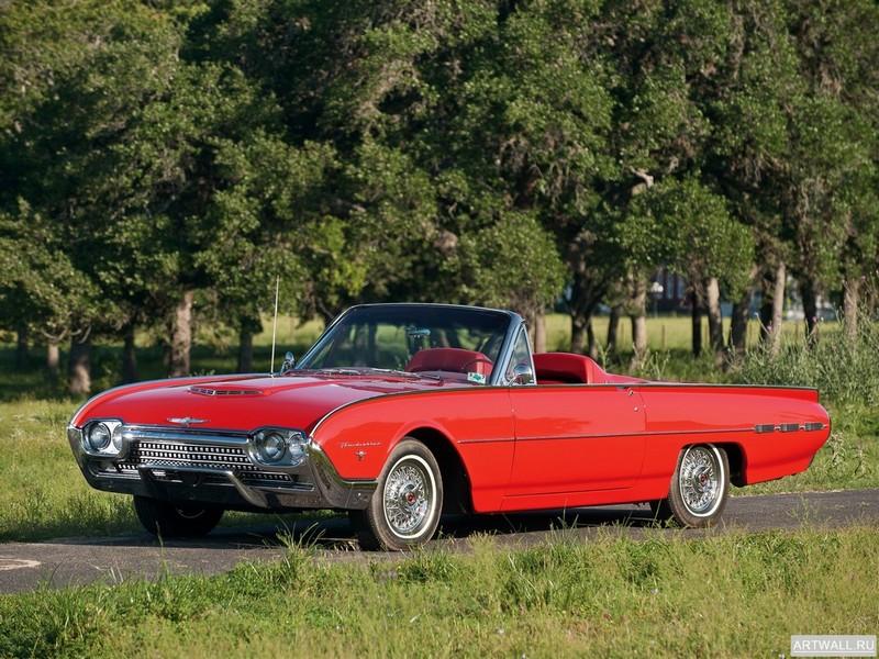 Постер Ford Thunderbird Sports Roadster 1962, 27x20 см, на бумагеFord<br>Постер на холсте или бумаге. Любого нужного вам размера. В раме или без. Подвес в комплекте. Трехслойная надежная упаковка. Доставим в любую точку России. Вам осталось только повесить картину на стену!<br>
