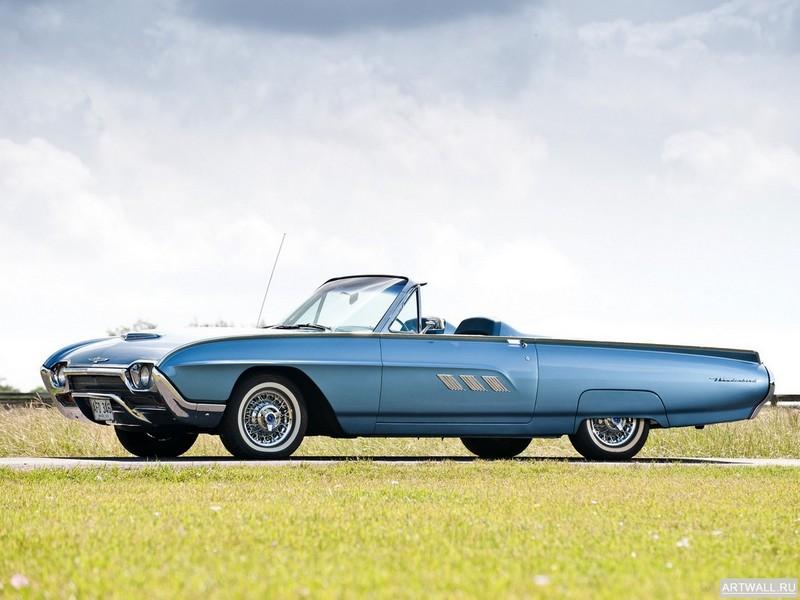 Постер Ford Thunderbird Sports Roadster 1963, 27x20 см, на бумагеFord<br>Постер на холсте или бумаге. Любого нужного вам размера. В раме или без. Подвес в комплекте. Трехслойная надежная упаковка. Доставим в любую точку России. Вам осталось только повесить картину на стену!<br>
