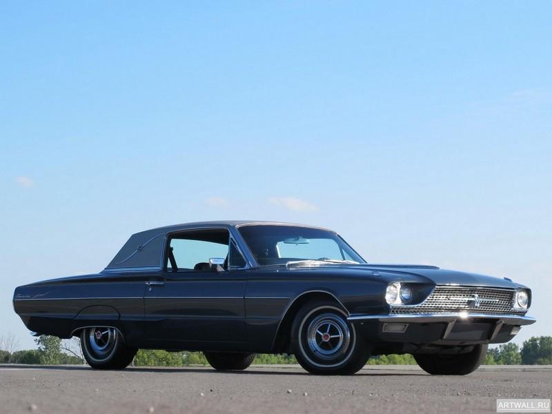 Постер Ford Thunderbird Town Landau Coupe 1966, 27x20 см, на бумагеFord<br>Постер на холсте или бумаге. Любого нужного вам размера. В раме или без. Подвес в комплекте. Трехслойная надежная упаковка. Доставим в любую точку России. Вам осталось только повесить картину на стену!<br>