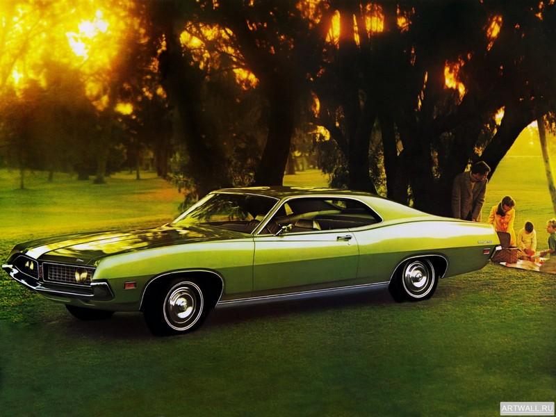 Ford Torino 500 2-door Hardtop 1971, 27x20 см, на бумагеFord<br>Постер на холсте или бумаге. Любого нужного вам размера. В раме или без. Подвес в комплекте. Трехслойная надежная упаковка. Доставим в любую точку России. Вам осталось только повесить картину на стену!<br>