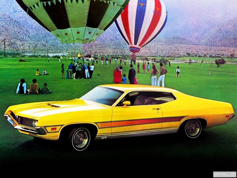 Постер Ford Torino GT Sportsroof 1971, 27x20 см, на бумагеFord<br>Постер на холсте или бумаге. Любого нужного вам размера. В раме или без. Подвес в комплекте. Трехслойная надежная упаковка. Доставим в любую точку России. Вам осталось только повесить картину на стену!<br>