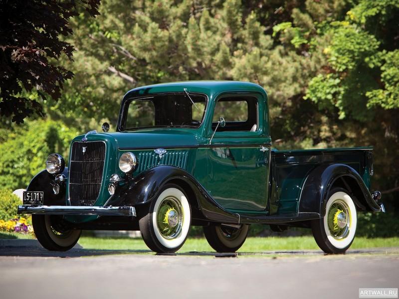 Постер Ford V8 1 2-ton Pickup (50-830) 1935, 27x20 см, на бумагеFord<br>Постер на холсте или бумаге. Любого нужного вам размера. В раме или без. Подвес в комплекте. Трехслойная надежная упаковка. Доставим в любую точку России. Вам осталось только повесить картину на стену!<br>