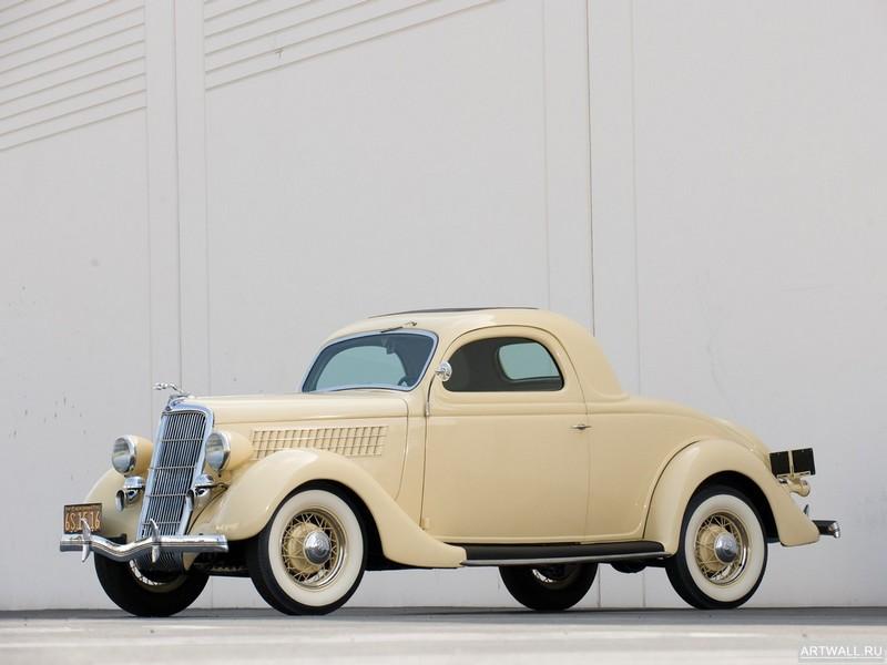 Постер Ford V8 Deluxe 3-window Coupe (48) 1935, 27x20 см, на бумагеFord<br>Постер на холсте или бумаге. Любого нужного вам размера. В раме или без. Подвес в комплекте. Трехслойная надежная упаковка. Доставим в любую точку России. Вам осталось только повесить картину на стену!<br>