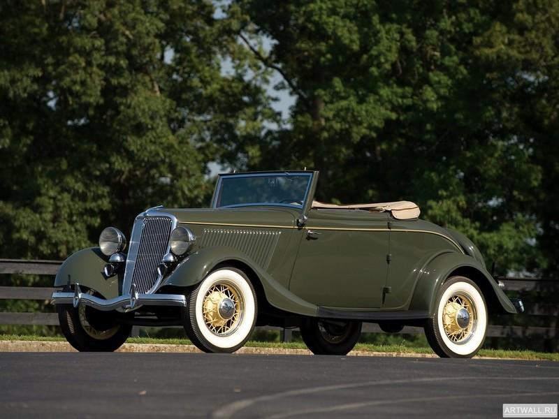 Постер Ford V8 Deluxe Cabriolet (40-760) 1934, 27x20 см, на бумагеFord<br>Постер на холсте или бумаге. Любого нужного вам размера. В раме или без. Подвес в комплекте. Трехслойная надежная упаковка. Доставим в любую точку России. Вам осталось только повесить картину на стену!<br>