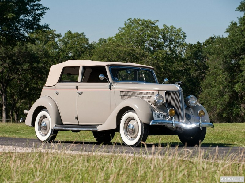 Постер Ford V8 Deluxe Convertible Sedan (68-740) 1936, 27x20 см, на бумагеFord<br>Постер на холсте или бумаге. Любого нужного вам размера. В раме или без. Подвес в комплекте. Трехслойная надежная упаковка. Доставим в любую точку России. Вам осталось только повесить картину на стену!<br>