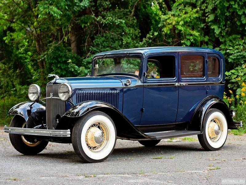 Постер Ford V8 Deluxe Fordor Sedan (18-160) 1932, 27x20 см, на бумагеFord<br>Постер на холсте или бумаге. Любого нужного вам размера. В раме или без. Подвес в комплекте. Трехслойная надежная упаковка. Доставим в любую точку России. Вам осталось только повесить картину на стену!<br>