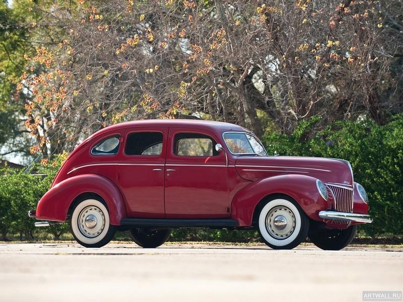 Постер Ford V8 Deluxe Fordor Sedan (91A-73B) 1939, 27x20 см, на бумагеFord<br>Постер на холсте или бумаге. Любого нужного вам размера. В раме или без. Подвес в комплекте. Трехслойная надежная упаковка. Доставим в любую точку России. Вам осталось только повесить картину на стену!<br>
