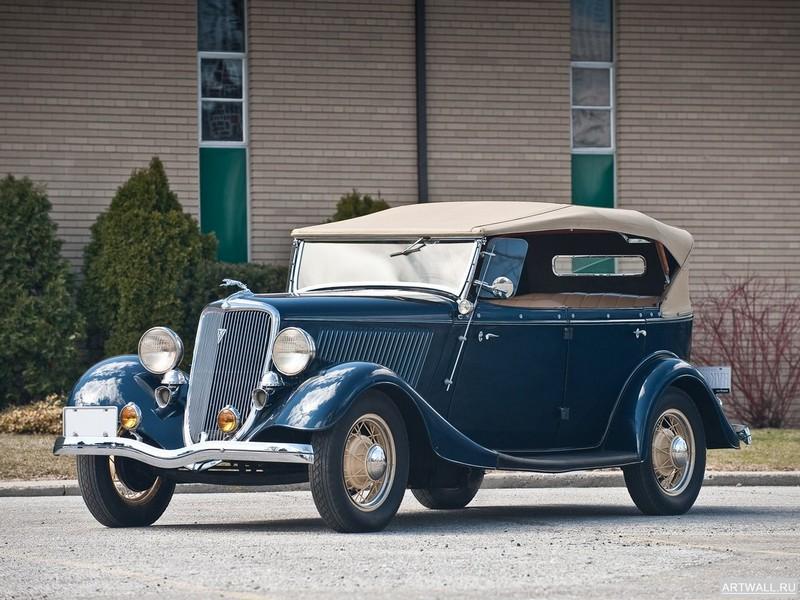 Постер Ford V8 Deluxe Phaeton (40-750) 1934, 27x20 см, на бумагеFord<br>Постер на холсте или бумаге. Любого нужного вам размера. В раме или без. Подвес в комплекте. Трехслойная надежная упаковка. Доставим в любую точку России. Вам осталось только повесить картину на стену!<br>